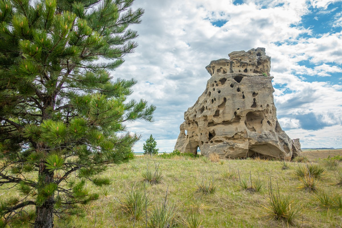 rock formation at Medicine Rocks State Park Montana