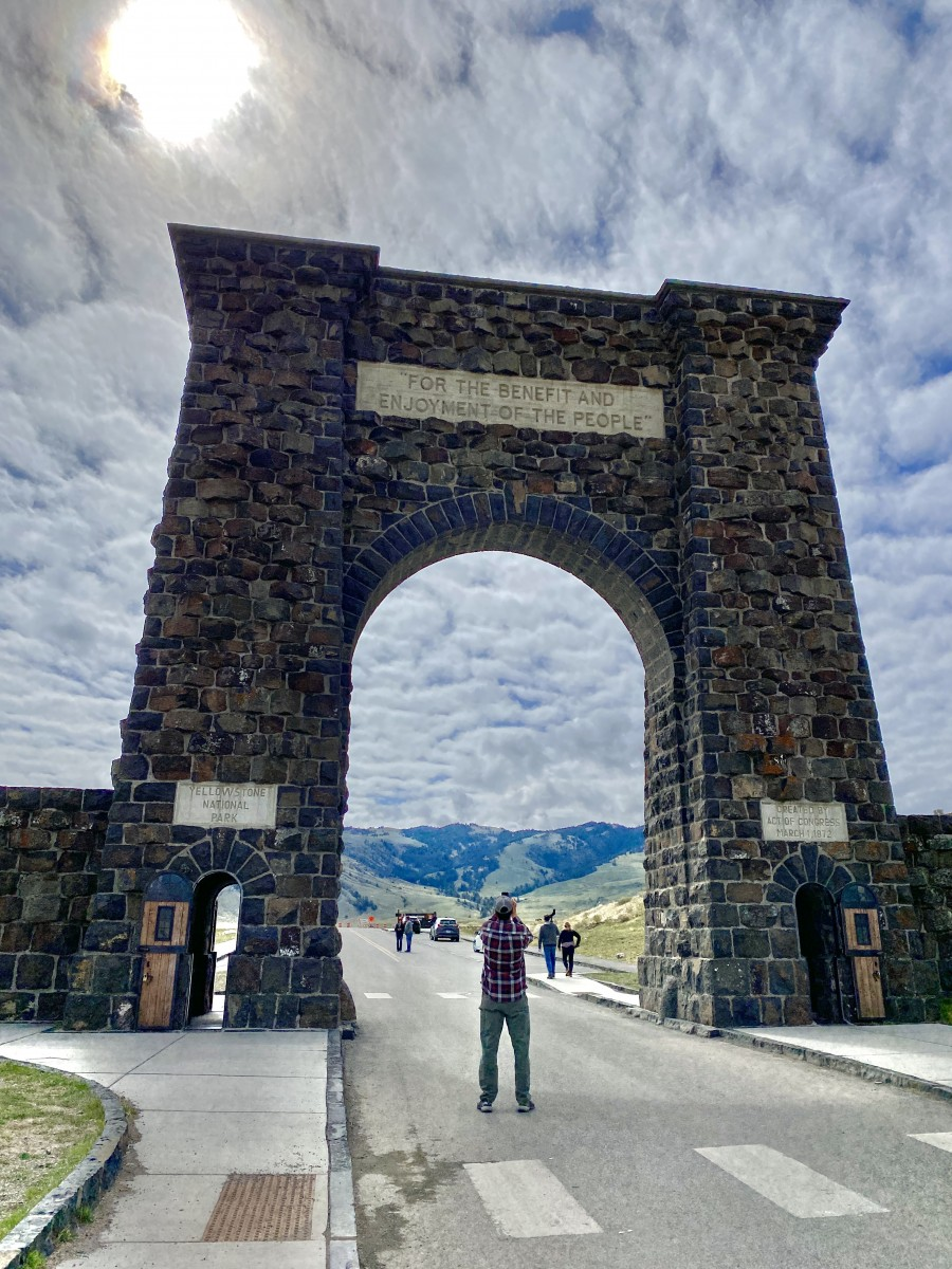 Yellowstone's Roosevelt Arch is one of the things to do in Gardiner Montana