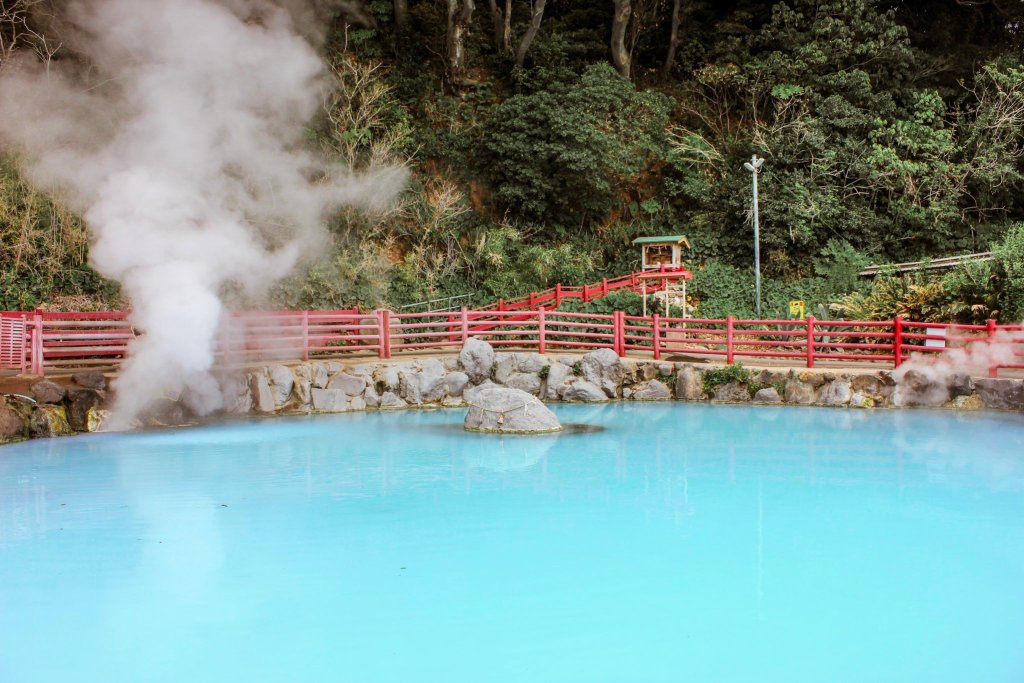 Multicolored Hot Springs in Beppu is a must do things in Japan