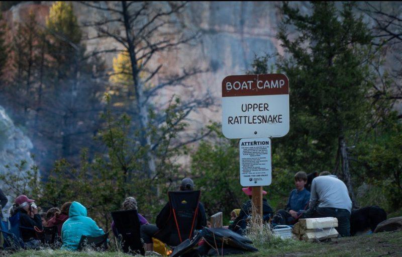 Upper Rattlesnake Boat Camp sign