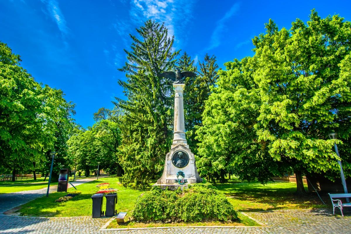 Cakovec public park, Međimurje, Croatia