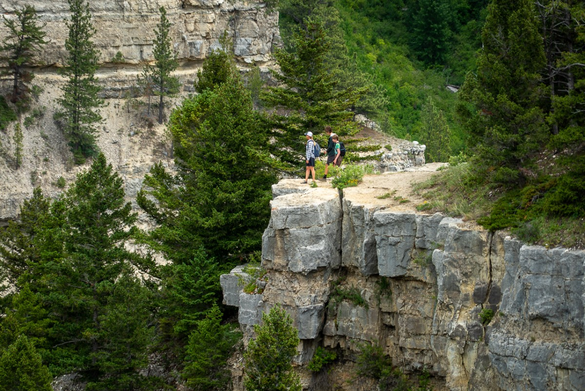 State Parks between Glacier and Yellowstone include Sluice Boxes