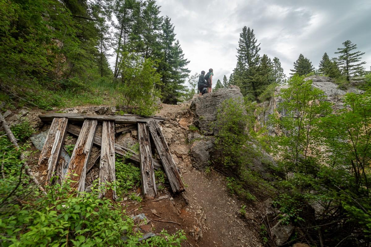 cabin ruins in Sluice Boxes State Park