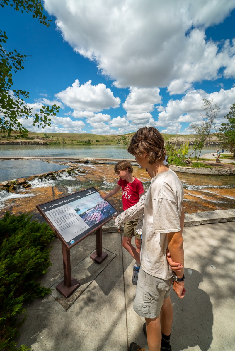 family educational field trip at Giant Springs Montana State Park