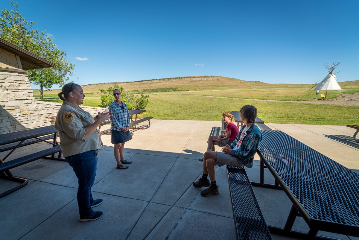 Learning about buffalo culture at First Peoples Buffalo Jump State Park Great Falls