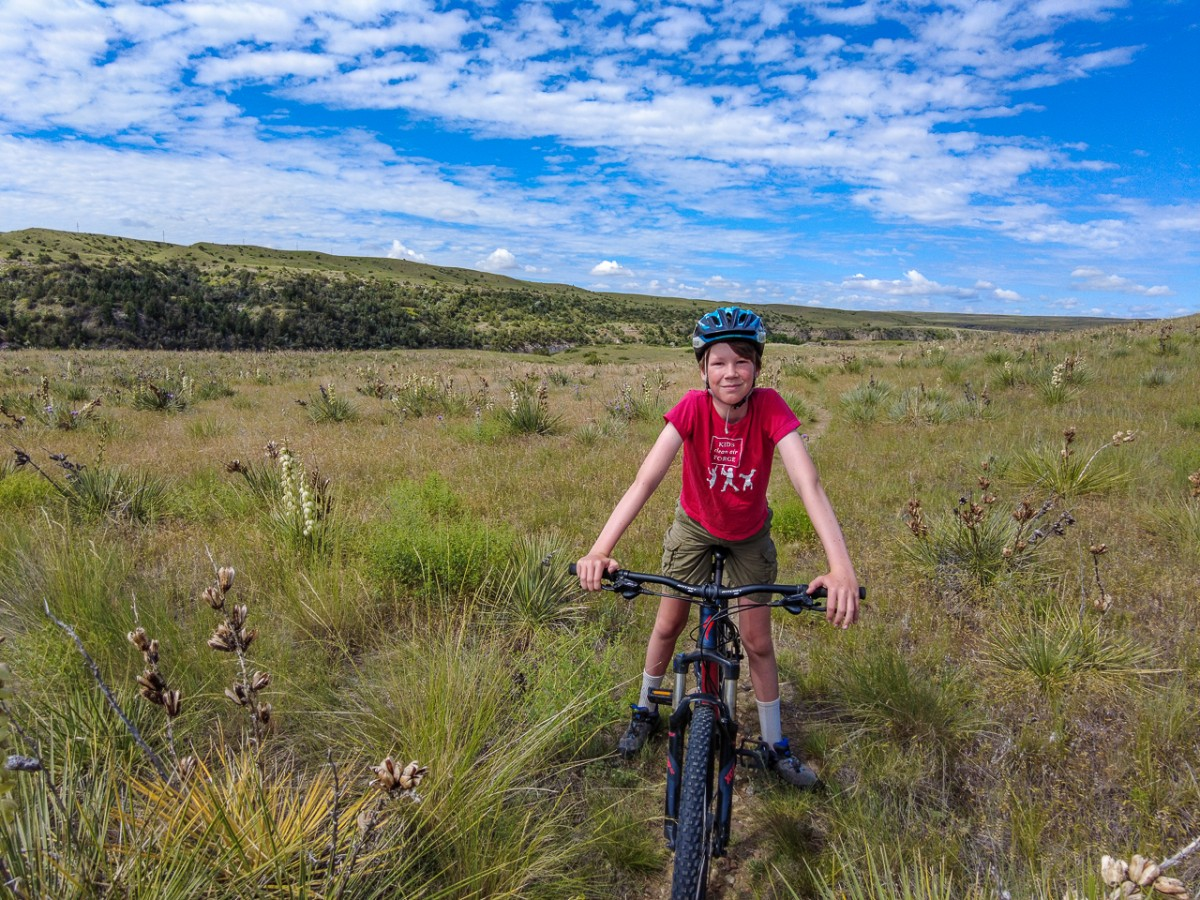 Bike trails in Great Falls Montana State Parks on the Way from Yellowstone to glacier national park