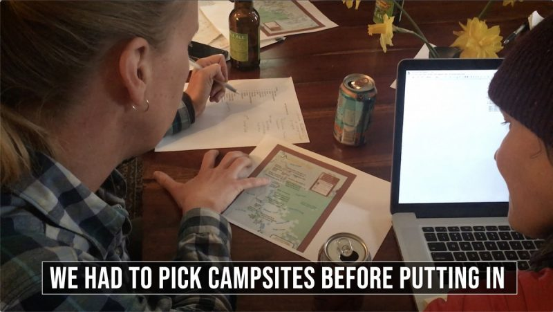 Planning our Campsites