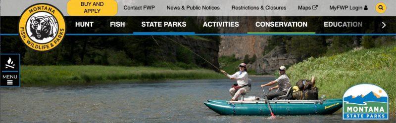 Montana State Parks Website banner