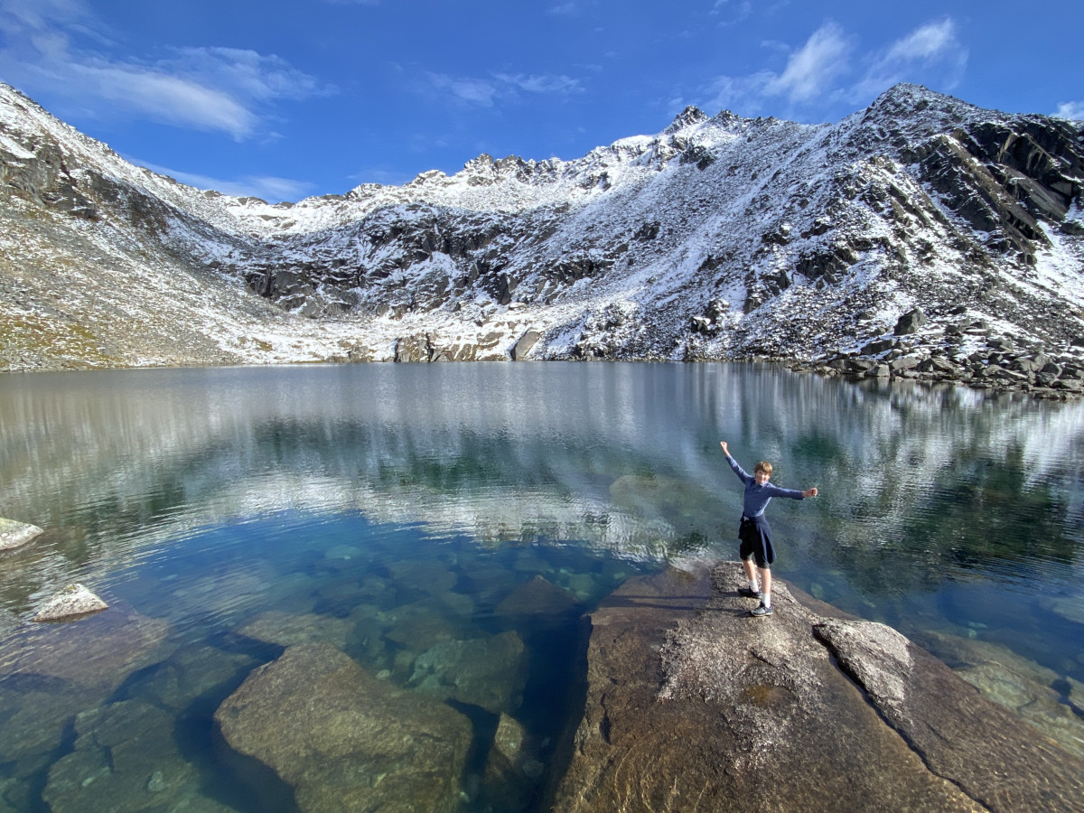 hiking trails at Hatcher Pass Mine lead to Gold Cord Lake