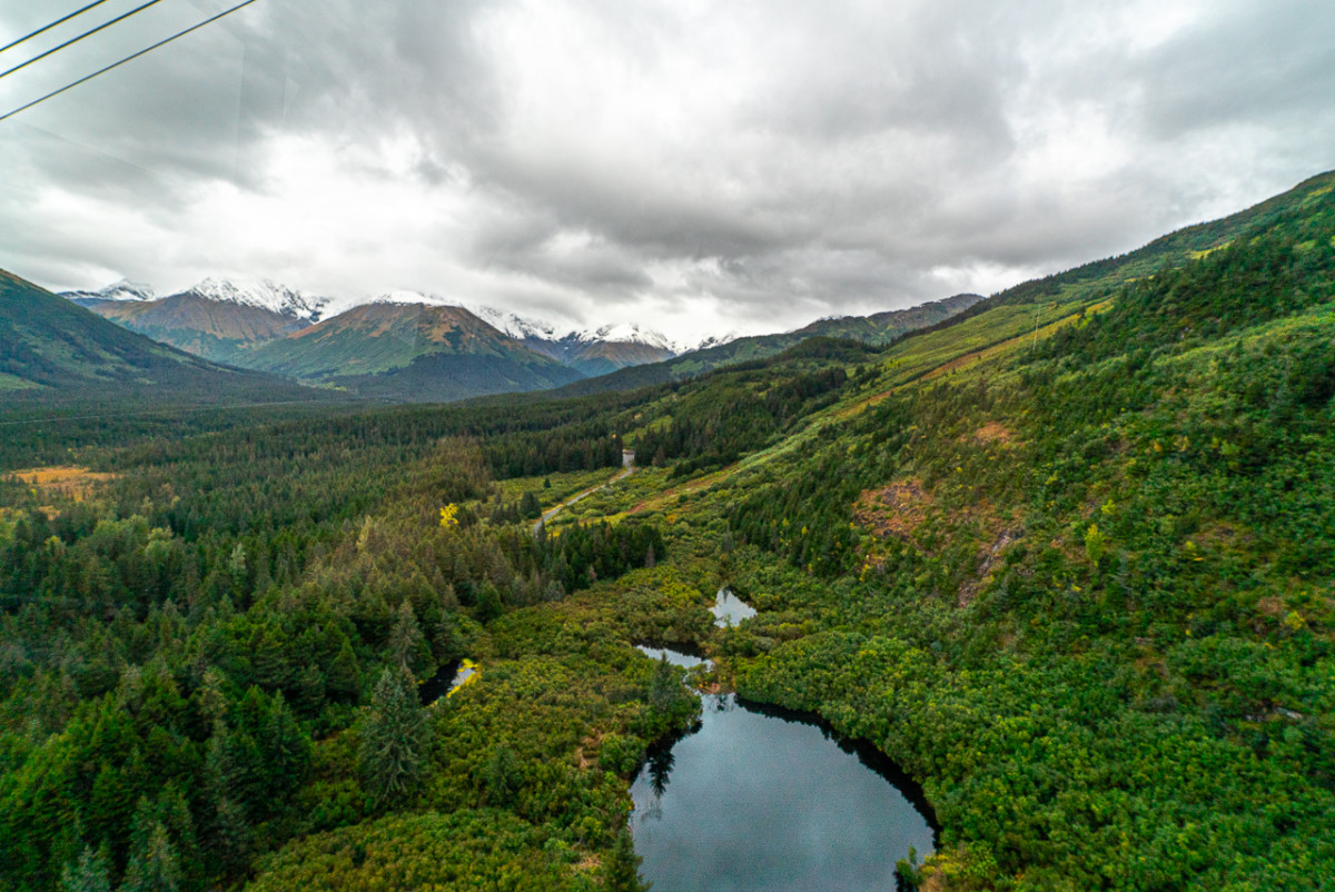 View of mountains from Alyeska aerial tram