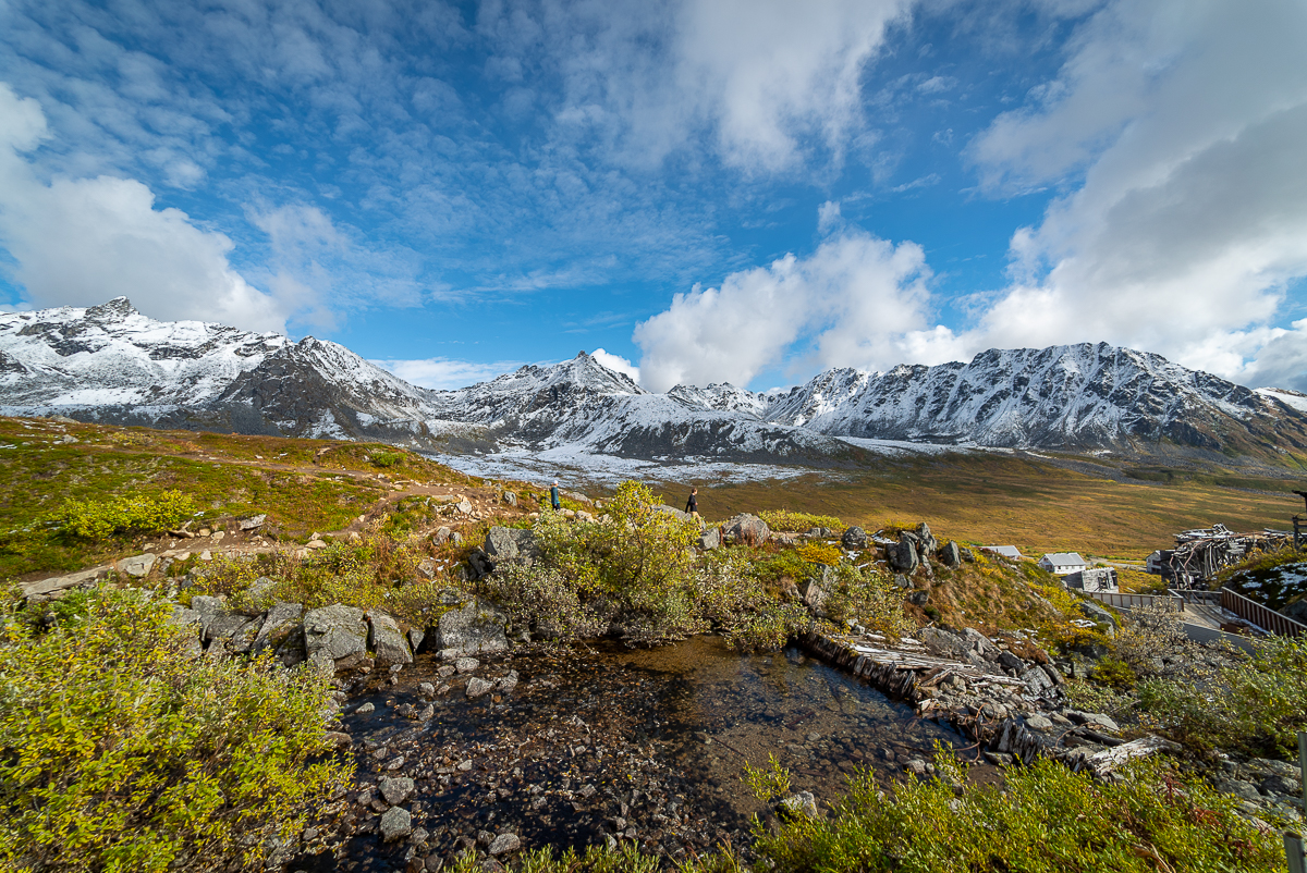 mountains and fall colors at Hatcher Pass near Palmer AK