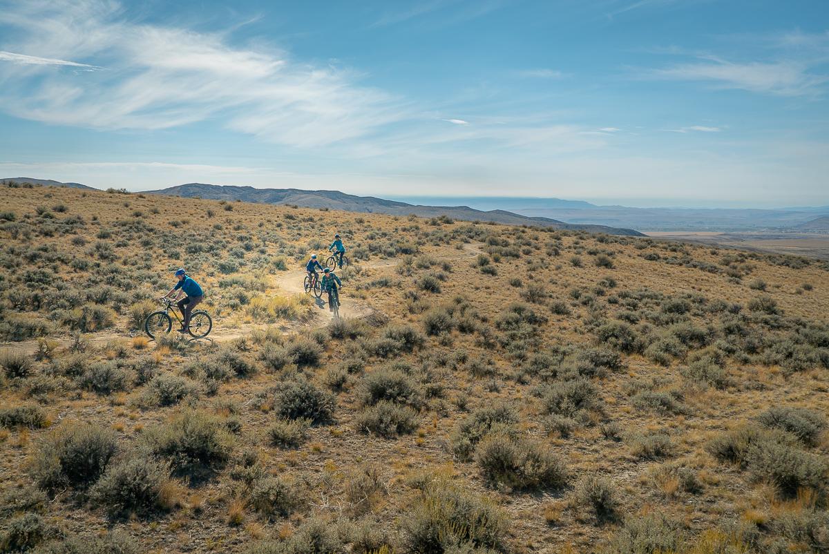 mountain biking at copper city three forks montana