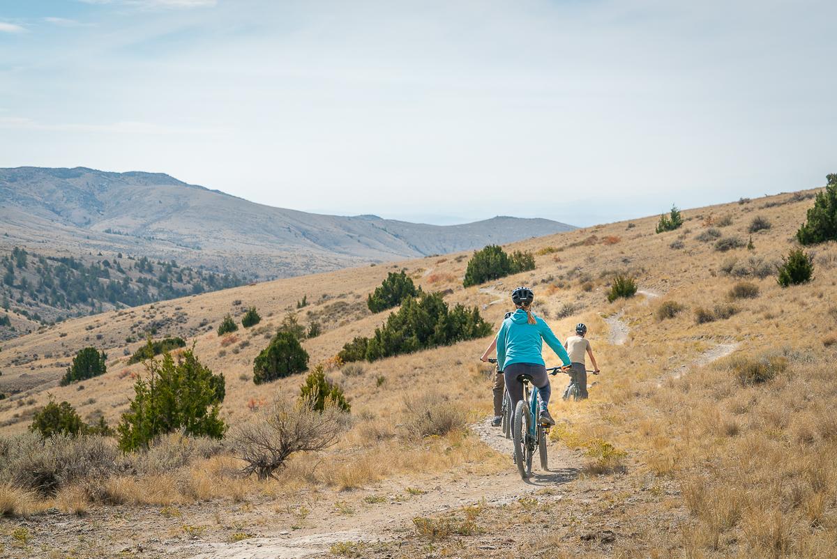 mountain biker in Copper City Three Forks Montana