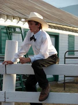 4H boy at the 2007 Park County Fair