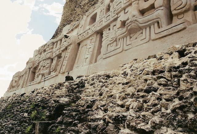 The frieze on El Castillo, Xunantunich, Belize